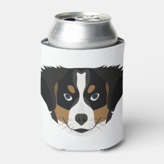 Illustration Bernese Mountain Dog Can Cooler