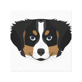 Illustration Bernese Mountain Dog Canvas Print