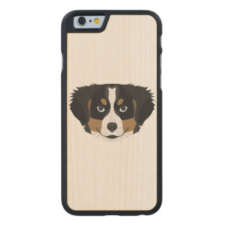 Illustration Bernese Mountain Dog Carved Maple iPhone 6 Case