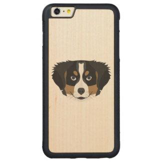 Illustration Bernese Mountain Dog Carved Maple iPhone 6 Plus Bumper Case