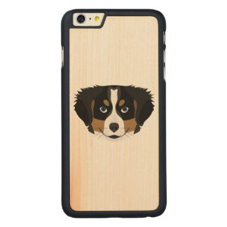 Illustration Bernese Mountain Dog Carved Maple iPhone 6 Plus Case