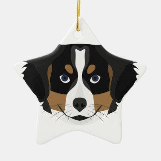 Illustration Bernese Mountain Dog Ceramic Ornament