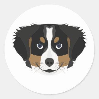 Illustration Bernese Mountain Dog Classic Round Sticker