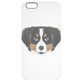 Illustration Bernese Mountain Dog Clear iPhone 6 Plus Case