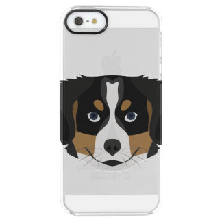 Illustration Bernese Mountain Dog Clear iPhone SE/5/5s Case