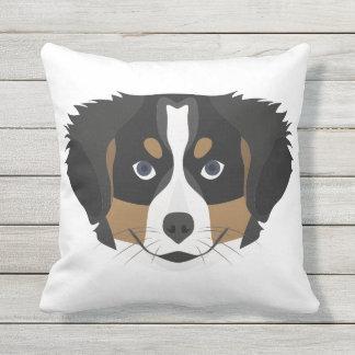 Illustration Bernese Mountain Dog Cushion