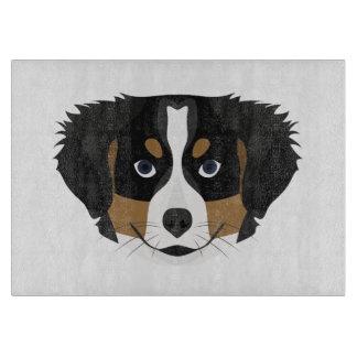 Illustration Bernese Mountain Dog Cutting Board