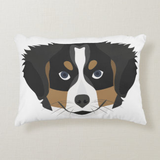 Illustration Bernese Mountain Dog Decorative Cushion