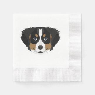 Illustration Bernese Mountain Dog Disposable Napkin