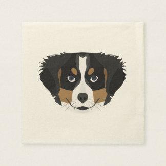 Illustration Bernese Mountain Dog Disposable Napkins