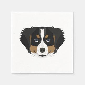 Illustration Bernese Mountain Dog Disposable Serviette