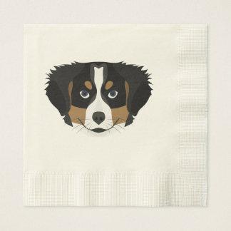 Illustration Bernese Mountain Dog Disposable Serviettes