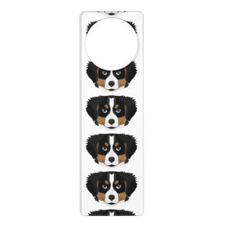 Illustration Bernese Mountain Dog Door Hanger