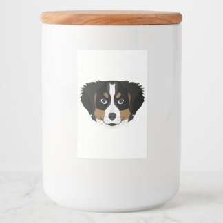 Illustration Bernese Mountain Dog Food Label