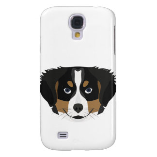 Illustration Bernese Mountain Dog Galaxy S4 Cases