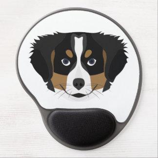 Illustration Bernese Mountain Dog Gel Mouse Pad