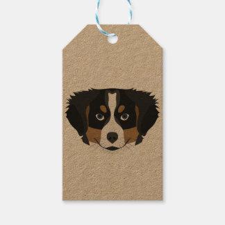 Illustration Bernese Mountain Dog Gift Tags