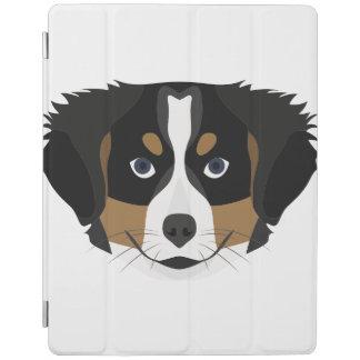 Illustration Bernese Mountain Dog iPad Cover