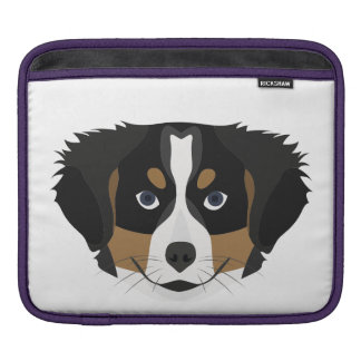Illustration Bernese Mountain Dog iPad Sleeve