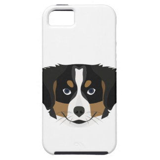 Illustration Bernese Mountain Dog iPhone 5 Case