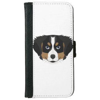Illustration Bernese Mountain Dog iPhone 6 Wallet Case