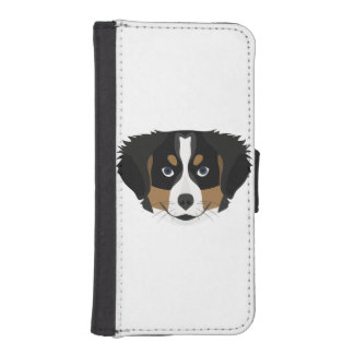 Illustration Bernese Mountain Dog iPhone SE/5/5s Wallet Case