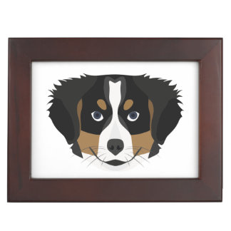Illustration Bernese Mountain Dog Keepsake Box