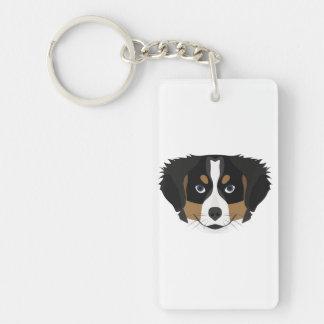 Illustration Bernese Mountain Dog Key Ring