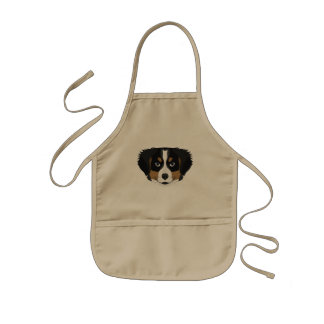 Illustration Bernese Mountain Dog Kids Apron