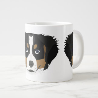 Illustration Bernese Mountain Dog Large Coffee Mug