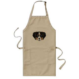 Illustration Bernese Mountain Dog Long Apron