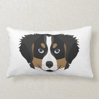 Illustration Bernese Mountain Dog Lumbar Cushion
