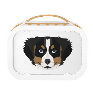 Illustration Bernese Mountain Dog Lunch Box
