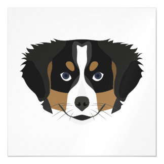 Illustration Bernese Mountain Dog Magnetic Card