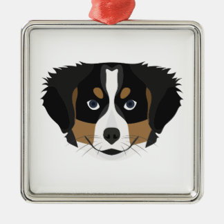 Illustration Bernese Mountain Dog Metal Ornament