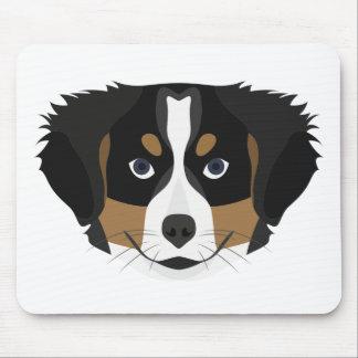Illustration Bernese Mountain Dog Mouse Pad