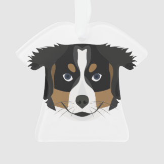 Illustration Bernese Mountain Dog Ornament