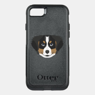 Illustration Bernese Mountain Dog OtterBox Commuter iPhone 8/7 Case