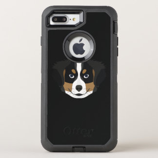 Illustration Bernese Mountain Dog OtterBox Defender iPhone 8 Plus/7 Plus Case