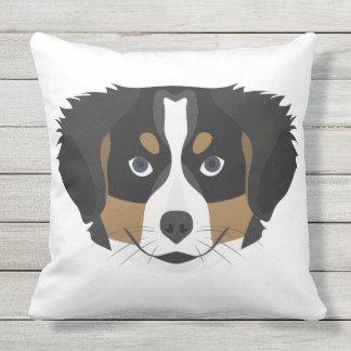 Illustration Bernese Mountain Dog Outdoor Cushion