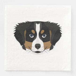 Illustration Bernese Mountain Dog Paper Napkin