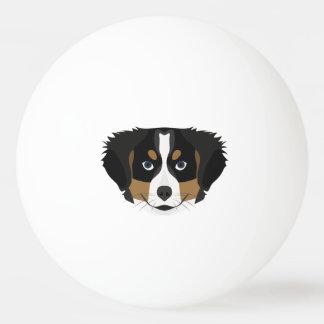 Illustration Bernese Mountain Dog Ping Pong Ball