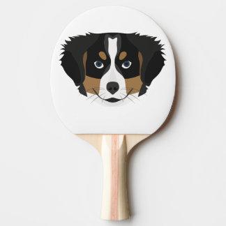 Illustration Bernese Mountain Dog Ping Pong Paddle