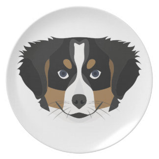 Illustration Bernese Mountain Dog Plate
