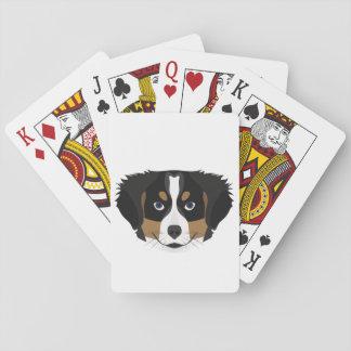 Illustration Bernese Mountain Dog Playing Cards