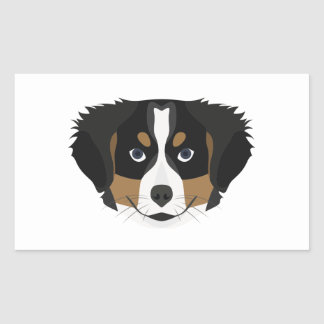 Illustration Bernese Mountain Dog Rectangular Sticker
