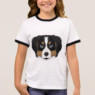 Illustration Bernese Mountain Dog Ringer T-Shirt
