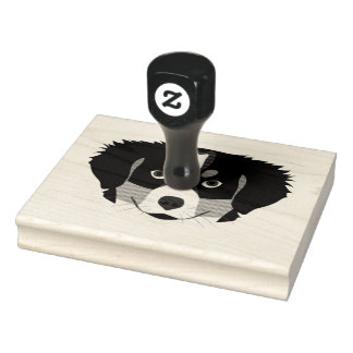 Illustration Bernese Mountain Dog Rubber Stamp