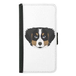 Illustration Bernese Mountain Dog Samsung Galaxy S5 Wallet Case
