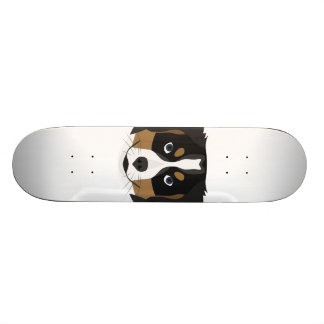 Illustration Bernese Mountain Dog Skateboard